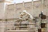 Statue In A Monument To Victor Emmanuel Ii. Piazza Venezia, Rome