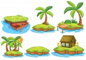 Illustration of different islands