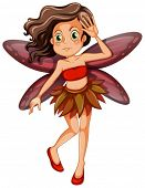 Illustration of a red fairy