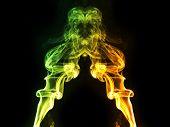 Smoke Of incense stick