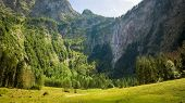 An image of the highest waterfall in Germany, the Roethbachfall in Bavaria
