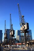 cranes at Canary Wharf