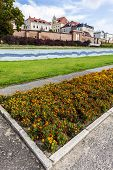 Flowerbed In Torun, Vistula Riverside Path, Poland.