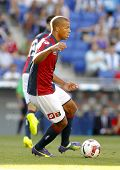 BARCELONA - AUG, 17: Sebastian De Maio of Genoa CFC in action during a friendly match against RCD Es