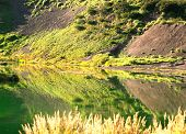 Small Lake On A Volcano Slope