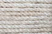 White Rough Rope Background