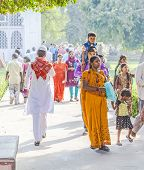 People Visit The Red Fort In Delhi, India