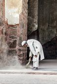 People Work At Humayun's Tomb