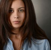 Very Nice portrait of a Latino Actress in studio