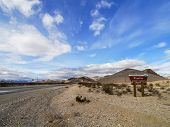 Entrance of Rhyolite Ghost Town