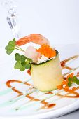 picture of masago  - Zucchini Roll with shrimps and seasoned capelin roe  - JPG