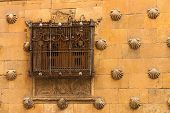 Beautiful Window With Forge Of The House Of Shells In Salamanca