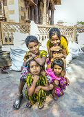 Young Girls Pose Proudly At The Street Market In Jodhpur