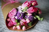 stock photo of hydrangea  - Flower arrangement - JPG