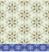 color floral geometric seamless pattern
