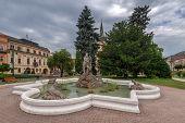 neptune monument in Presov, Slovakia