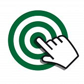 Achieving goal icon green gray colors