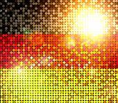 Brillante bandera de Alemania