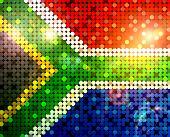 Brillante bandera de Sudáfrica