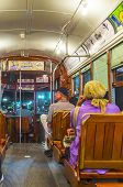 People Travel With The Famous Old Street Car