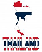 Thailand map flag and text illustration