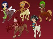 Fantasy Character Cartoon Of Centaur Girl