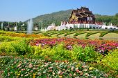 Ho Kham Luang At Royal Flora Expo, Traditional Thai Architecture In The Lanna Style, Chiang Mai, Tha