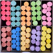 Color Chalk In Box