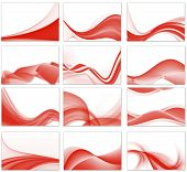 set of 12 abstract vectors