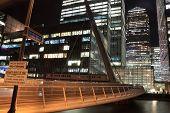 Footbridge to Canary Wharf