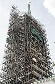 Scaffolding Around Massive Steeple