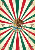 retro mexican sunbeams poster. A vintage mexican poster with sunbeams for your advertising