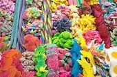 Delicious candy at the Boqueria