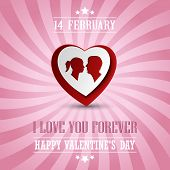 Valentines Poster With A Heart In Background