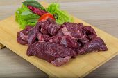 pic of deer meat  - Raw wild venison meat  - JPG