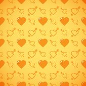 stock photo of avow  - Lovely heart romantic yellow pattern - JPG
