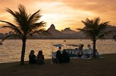 Rio de Janeiro Lakeside Sunset