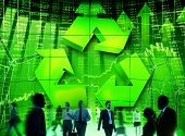 Business People Commuter Technology Security Recycling Conservation Concept