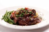 foto of beef shank  - braised veal shank osso buco or bucco homemade - JPG