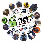Online Security Protection Internet Safety People Technology Concept