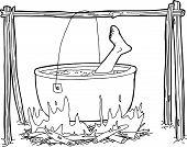 Cauldron With Human Foot