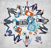 Ideas Creative Social Media Social Networking Vision Concept