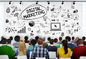picture of seminars  - People Seminar Conference Digital Marketing Strategy Concept - JPG