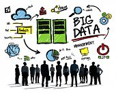 Diversity Business People Big Data Looking Up Concept