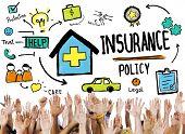 Diversity Hands Insurance Policy Volunteer Support Concept