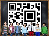 QR Code Marketing Data Identity Concept