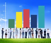 Bar Graph Growth Success Business Concept