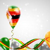 Flag of Zimbabwe on balloon