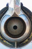 pic of rotor plane  - Airplane turbine blades close - JPG