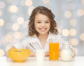 picture of healthy eating girl  - healthy food - JPG
